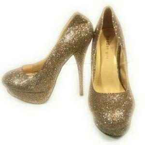 Madden Girl Glitter Pumps, 8.5